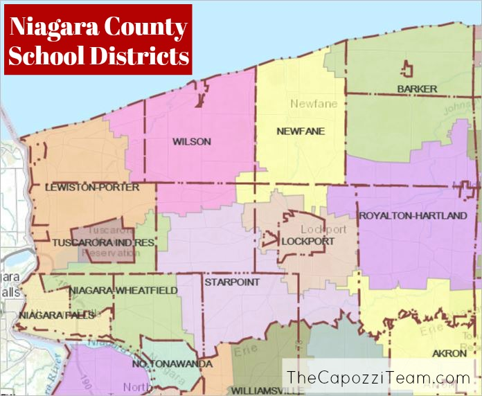 Map of Niagara County School Districts